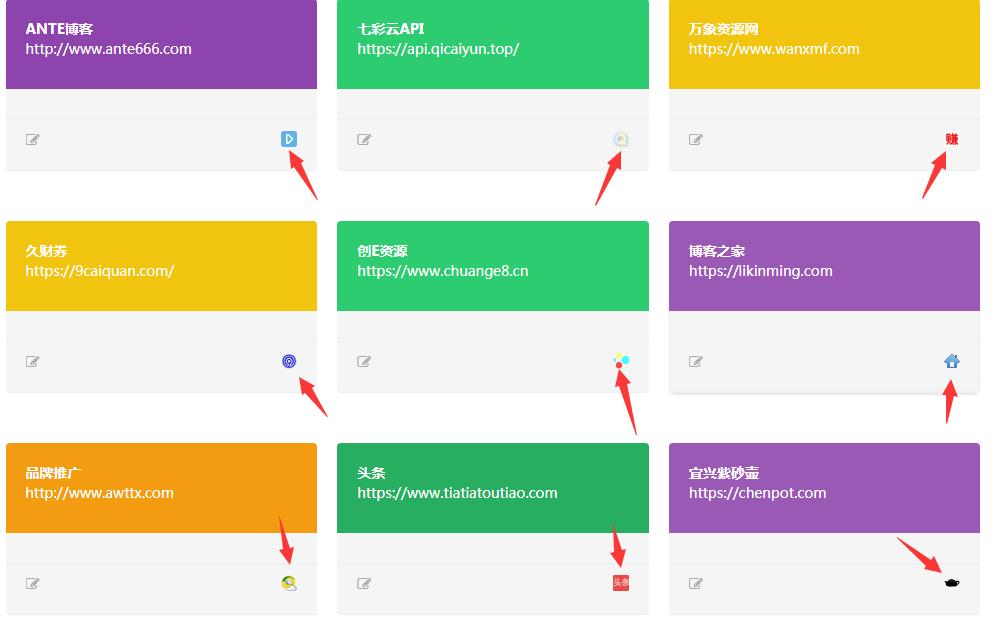 GIT主题友链模板链接不显示图标